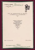 260519A - MENU 1932 9e Régiment Zouaves 3e Bataillon MILITARIA Présentation Drapeau Remise Fourragère Légion D'Honneur - Documents