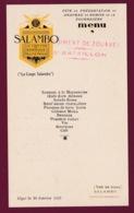 260519A - MENU 1932 9e Régiment Zouaves 3e Bon MILITARIA Présentation Drapeau Remise Fourragère Légion D'Honneur Salambo - Documents