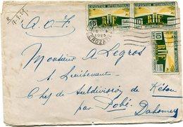 FRANCE LETTRE DEPART PARIS 16 VII 1925 R. CROZATIER POUR LE DAHOMEY (A.O.F) - Storia Postale