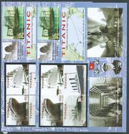 Tonga 2012 Titanic Ship Anniversary Sheet Of 4  X 2 Imperforate & Perforate MNH - Tonga (1970-...)