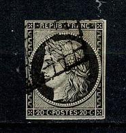 France 1849 Yv. 3   Obl. (2 Scans) - 1849-1850 Ceres