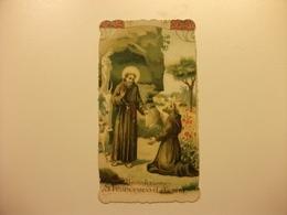 SANTINO HOLY PICTURE IMAGE SAINTE SAN FRANCESCO D'ASSISI BENEDIZIONE - Religione & Esoterismo