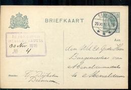 Deinum - Ingekomen Menaloomadeel - 1916 Leeuwarden - Ganzsachen