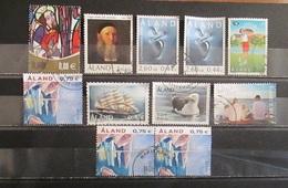 Aland 1992  - 2014 Lot 11 Stamps Used Von Knorring Golf Birds Ship Gymnastik  Europa Family - Aland