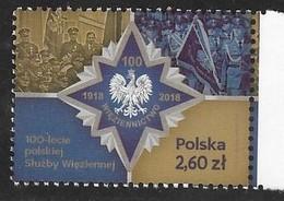POLAND,  2019, MNH, POLICE, PRISONS, 100th ANNIVERSARY OF POLISH PRISON SERVICE,1v - Police - Gendarmerie