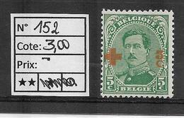 COB 152 (**) - 1918 Rotes Kreuz