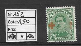 COB 152 (*) - 1918 Rotes Kreuz