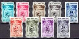 Venezuela 1952 - Coat Of Arms, State Sucre - Mi. 811-19  - Yv. PA418-26  - MH, Avec Charniere, Ungebraucht - Venezuela