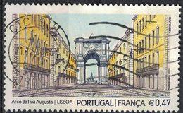 Portugal 2016 Oblitéré Used Emission Commune France Arc De La Rue Augusta à Lisbonne SU - 1910-... République