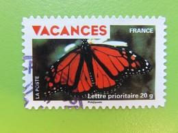 Timbre France YT 324 AA - Timbres Pour Vacances - Papillon Aux Ailes Rouges - 2009 - Adhésifs (autocollants)