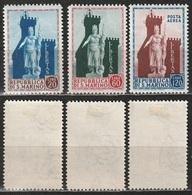 San Marino 1954 - Libertas - 3 Valori MNH Linguellato * - Nuovi