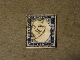 ITALIE   ETAT De SARDAIGNE 1855-61 Ou ITALIE   1862 Numero 3  Abimé - Sardaigne