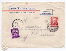 1958 YUGOSLAVIA, BOSNIA, SERBIA, SARAJEVO TO BELGRADE, POSTAGE DUE IN BELGRADE - 1945-1992 Socialist Federal Republic Of Yugoslavia