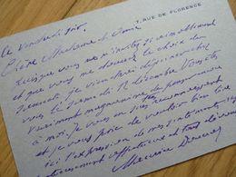 Maurice DONNAY (1859-1945) Poète CHAT NOIR. Académie Française. AUTOGRAPHE - Autographs