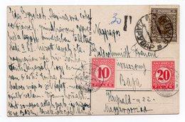 1920  YUGOSLAVIA, CROATIA, DARUVAR TO BAJA, HUNGARY, HUNGARIAN POSTAGE DUE 30 FILER, ILLUSTRATED POSTCARD USED - Croatia