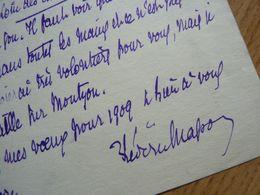 Frédéric MASSON - Autographes