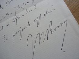 J. H. ROSNY Aîné (1856-1940) écrivain. Fondateur SCIENCE FICTION. Goncourt. AUTOGRAPHE [ Sci Fi - La Guerre Du Feu ] - Autographes