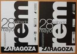 REM - TARJETA PROMOCIONAL CONCIERTO EN ZARAGOZA - ESPAÑA. - Afiches & Pósters
