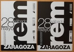 REM - TARJETA PROMOCIONAL CONCIERTO EN ZARAGOZA - ESPAÑA. - Manifesti & Poster