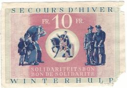 Loterie Secours D'hiver Sollidarite/ Loterij  Winterhulp Solidartiet 10fr. - Billets De Loterie