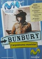 ENRIQUE BUNBURY - HEROES DEL SILENCIO. TARJETA POSTAL PROMOCIONAL CONCIERTO EN ZARAGOZA - ESPAÑA - Afiches & Pósters