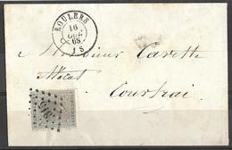 V642: Ps 315: ROULERS : N°17 > Courtrai - 1865-1866 Perfil Izquierdo