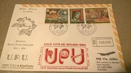 VOLO CITTA' DEL VATICANO BERN CENTENARIO UPU 1974 - Aerei
