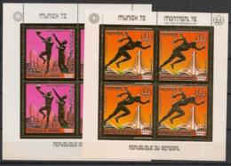 Sénégal - 1976 - PA N°Yv. 154 à 155 - Olympics / Montreal 76 - 2 Feuillets OR - Neuf Luxe ** / MNH / Postfrisch - Ete 1976: Montréal
