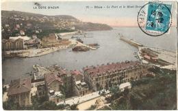 LOT 3 CPA DE NICE  (ALPES MARITIMES)  LE PORT ET LE MONT BORON. LA CASCADE DES NOUVEAUX JARDINS. LE PALAIS DE LA JETEE - Transport Maritime - Port