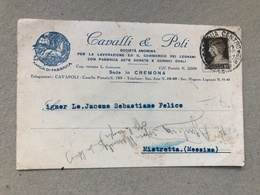CREMONA CAVALLI & POLI LAVORAZIONE E COMMERCIO LEGNAMI  1937 - Cremona