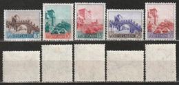 San Marino1955 - Vedute - Paesaggi - 5 Valori MNH Linguellato * - Nuovi