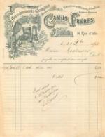 FACTURE 1901 CAMUS FRERES FABRICANTS AMEUBLEMENTS  SAINT QUENTIN - Frankreich