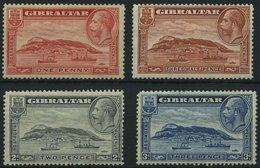 GIBRALTAR 96-99A **, 1931, Felsen Von Gibraltar, Gezähnt K 14, Normale Zähnung, Prachtsatz, Mi. 45.- - Gibraltar