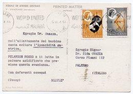DEAR DOCTOR TYPE PUBL. PELARGON ROSSO-NESTLE' / SWAZILAND-MARABOUTS / MALARIA CANCEL - Swaziland