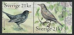 "SUECIA /SWEDEN / SCHWEDEN/ SUÈDE-EUROPA 2019- NATIONAL BIRDS.-""AVES- BIRDS -VÖGEL-OISEAUX""-2 SELLOS De La HOJITA BLOQUE - 2019"