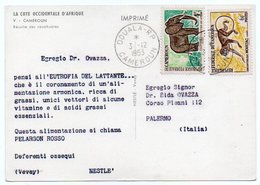 DEAR DOCTOR TYPE PUBL. PELARGON ROSSO-NESTLE' / CAMEROUN RECOLTE DES CACAHUETES/THEMATIC STAMPS-ANIMALS /ELEPHANT-MONKEY - Camerun