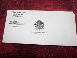 CROISEUR LANCE MISSILES COLBERT JOURNEE DE LA MARINE NATIONALE 1979 CANNES -MARIUS BAR EDITIONS TOULON - Militaria