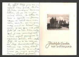 Euskirchen - Burg Satzvey - Groeten Uit Duitsland / Grüße Aus Deutschland - Grußkarte - Doppelte Karte - Euskirchen