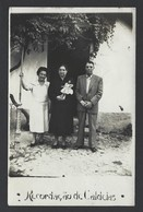 Postal Fotografico Particular RECORDAÇÃO DE CALDELAS Familia Com Boneca. Vintage Photo Postcard W/DOLL Portugal - Braga