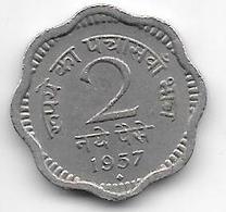 *  India  2 Paisa     1957 B Km 11   Xf - Inde