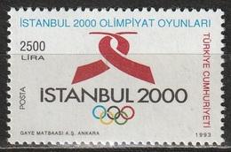 TURCHIA-TURKEY 1993 Candidatura Istambul Olimpiadi Del 2000 - MNH ** - 1921-... Repubblica