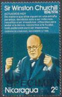 NICARAGUA (1974) Churchill. Speech. Specimen Overprint. Scott No 918, Yvert No 948. - Sir Winston Churchill