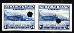 NEWFOUNDLAND (1932) Loading Iron Ore. Imperforate Proof Pair With Control Punch From Waterlow Archives. Scott 210 - 1908-1947
