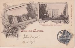 57 - COLOMBEY - 2 VUES - CHATEAU EN RUINE ET CHATEAU DE BORNY - France