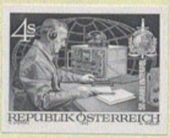 AUSTRIA (1973) Police Radio Dispatcher. Black Print. Scott No 955, Yvert No 1256. INTERPOL 50th Anniversary. - Ensayos & Reimpresiones