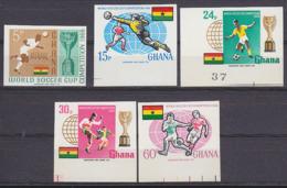 GHANA (1966) Wembley World Cup. Set Of 5 Imperforates. Scott Nos 259-63. - 1966 – Inglaterra