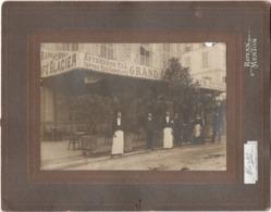 Menton C.1920 - Avenue De Verdun  Grand Café Glacier   Gde Photo - Personnes Identifiées