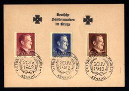 J61-GERMAN EMPIRE-MILITARY PROPAGANDA POSTCARD GERMAN SPECIALTY MARKS IN WAR.1942.WWII.GG.Krakau.DEUTSCHES REICH - Covers & Documents