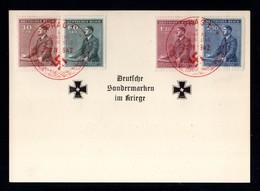 17421-GERMAN EMPIRE-MILITARY PROPAGANDA POSTCARD GERMAN SPECIALTY MARKS IN WAR.1942.WWII.Prag.DEUTSCHES REICH.Carte - Briefe U. Dokumente