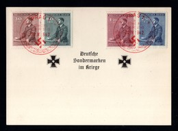 17421-GERMAN EMPIRE-MILITARY PROPAGANDA POSTCARD GERMAN SPECIALTY MARKS IN WAR.1942.WWII.Prag.DEUTSCHES REICH.Carte - Covers & Documents